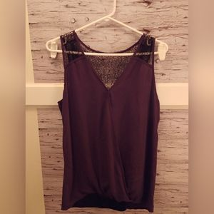 Small Thyme Maternity Lace Tank Blouse